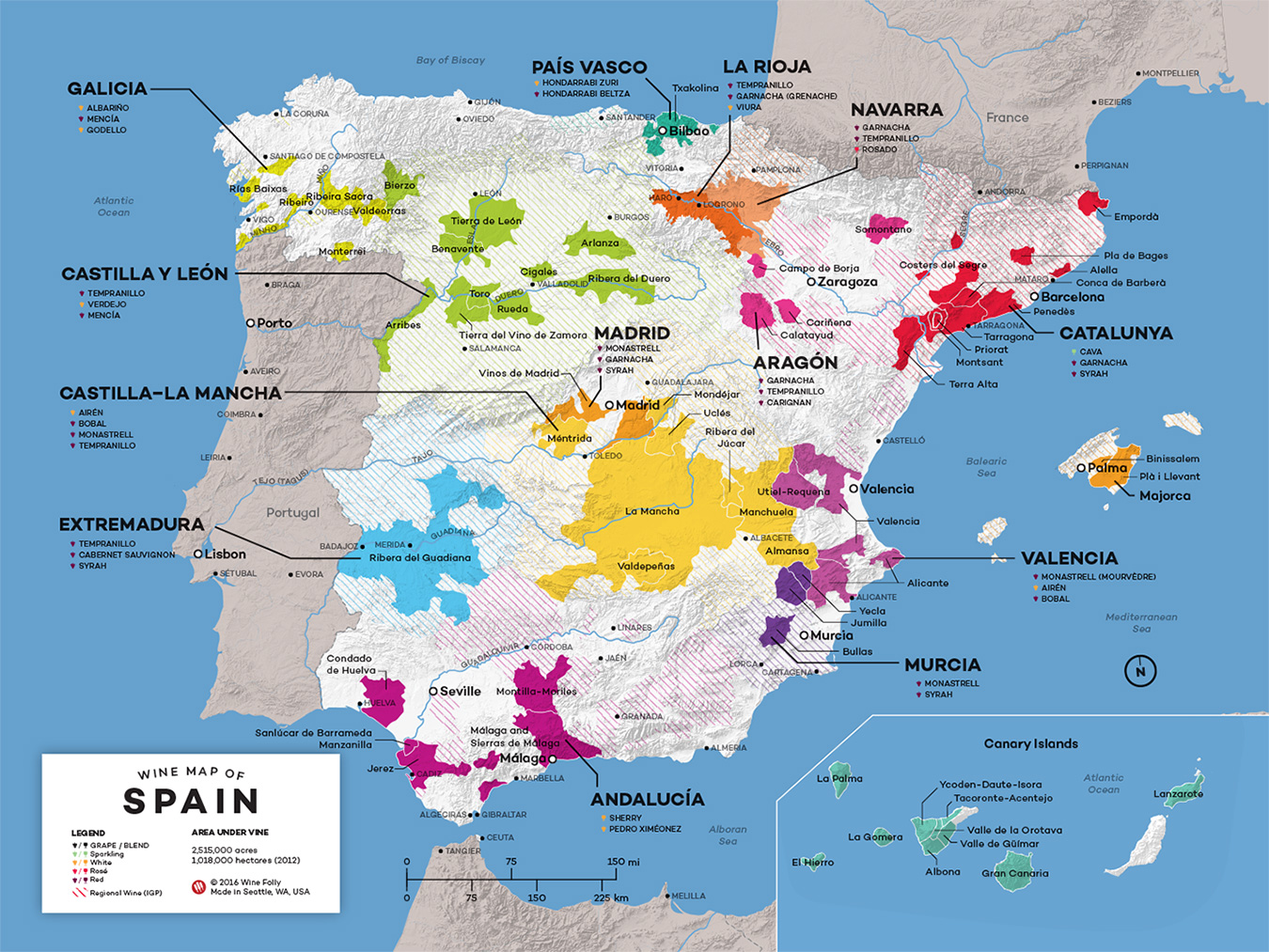 Map Of Tour Of Spain 2017.Spain Wine Map The Chorizo Chronicles